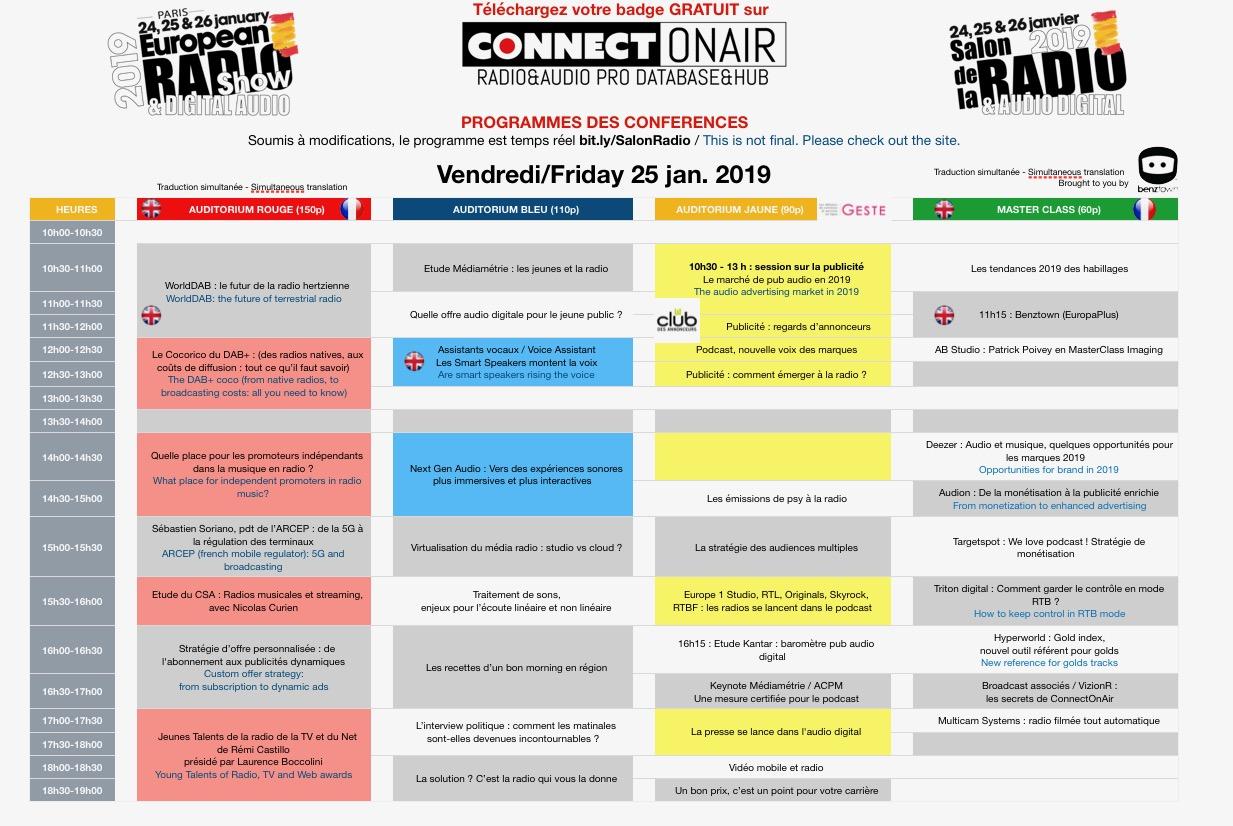 Salon de la Radio : Jour 2 : le programme