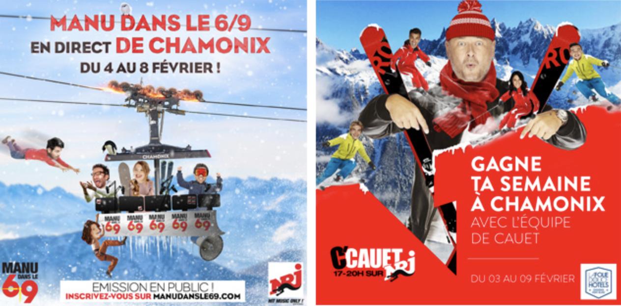 """""""Manu dans le 6/9"""" et """"C'Cauet"""" en direct de Chamonix"""