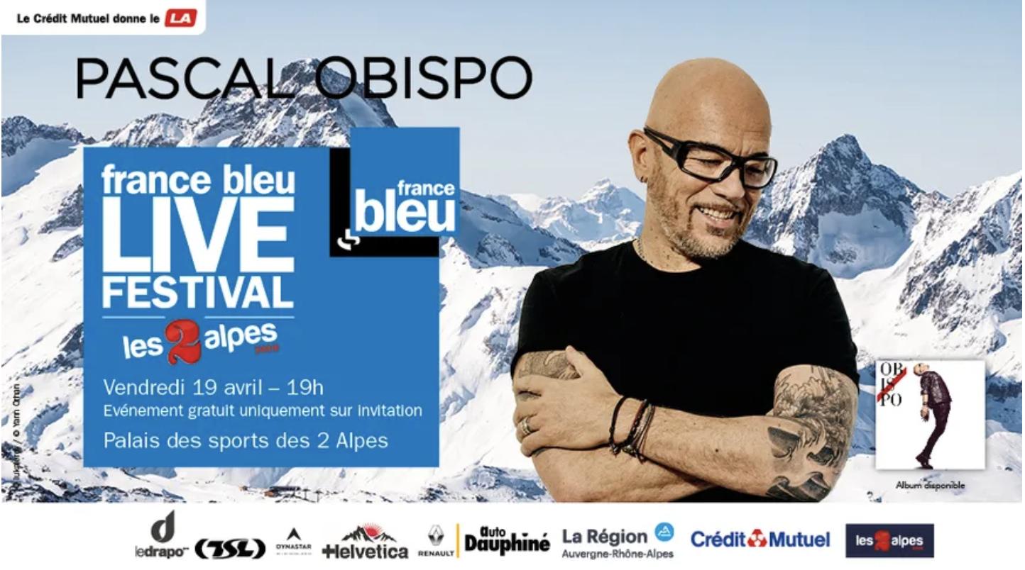 Pascal Obispo invité du France Bleu Live