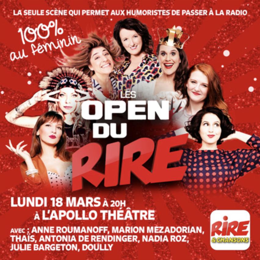 Rire & Chansons : un Open du Rire 100% féminin