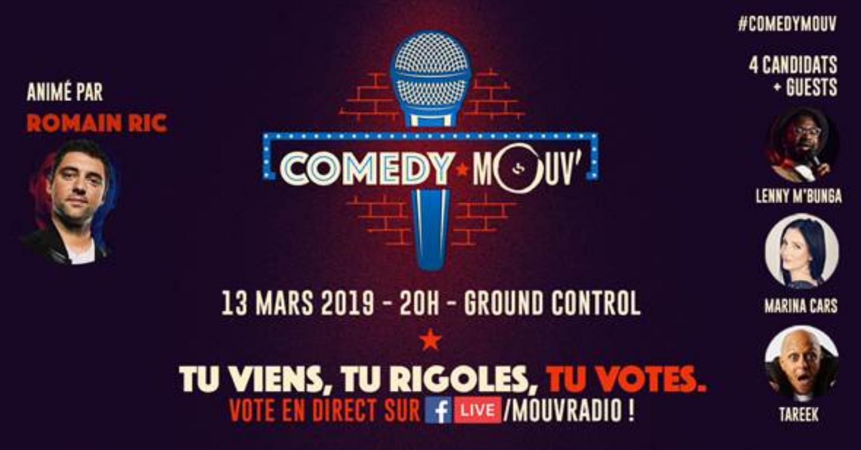 Mouv' propose la troisième édition de Comedy Mouv'