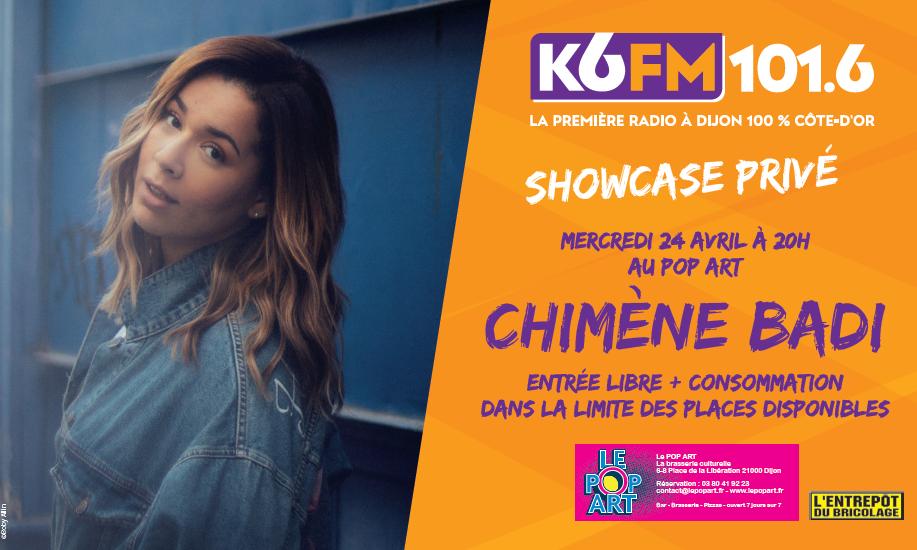 Chimène Badi invitée de K6FM le 24 avril au Pop Art