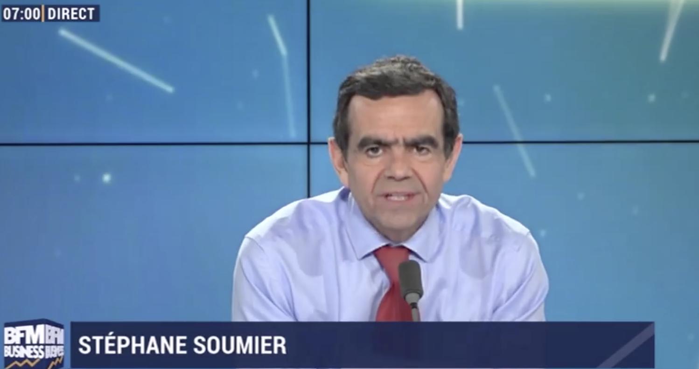 Stéphane Soumier présente la matinale de BFM Business depuis 2015. Historiquement une radio, elle est désormais déclinée en version TV.