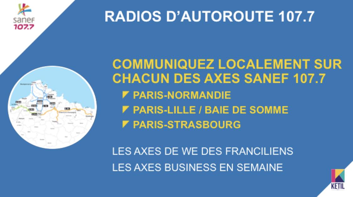 Trois décrochages locaux pour la Radio d'Autoroute Sanef 107.7