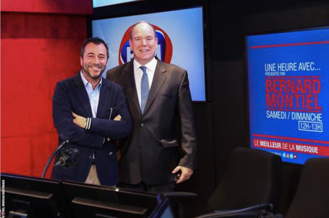 RFM : Bernard Montiel reçoit S.A.S le Prince Albert II de Monaco