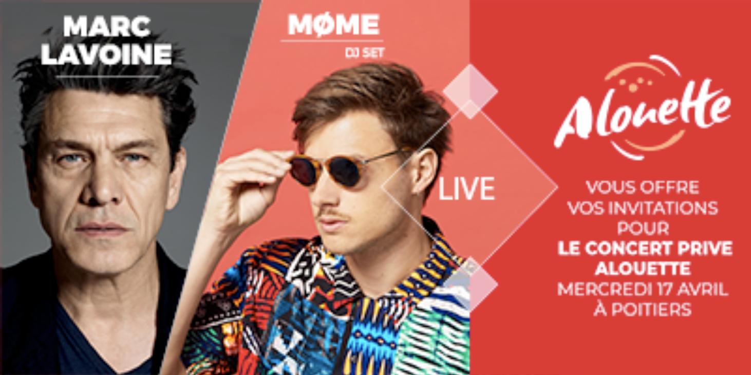 Marc Lavoine et Møme en concert avec Alouette