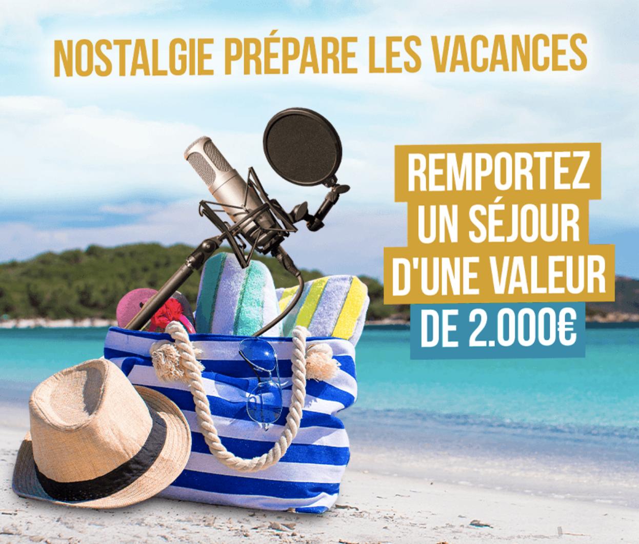 Nostalgie Belgique pense déjà aux vacances