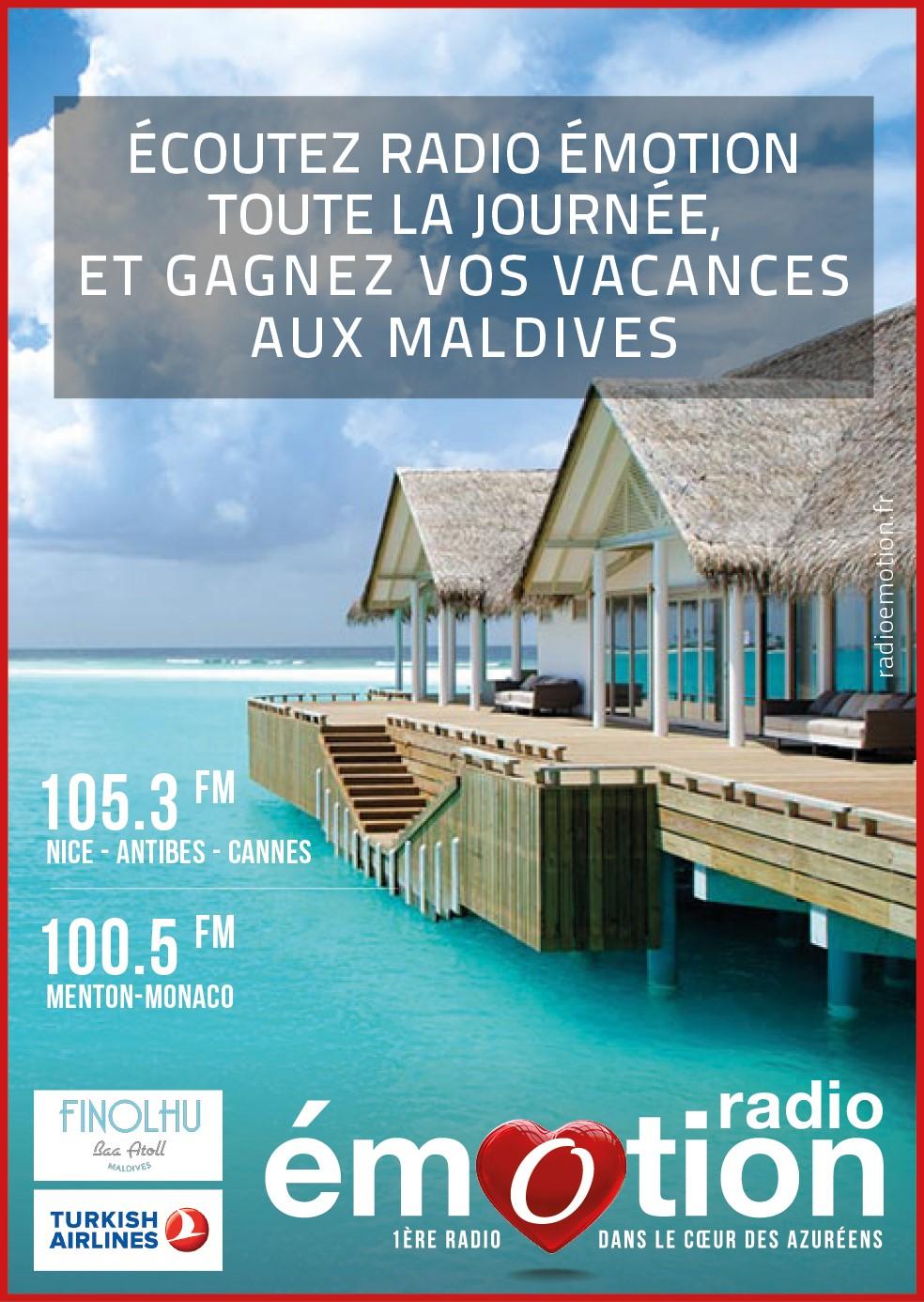 Radio Émotion offre un sejour aux Maldives