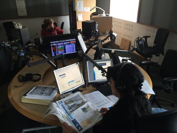 Les studios de France Bleu Périgord, première radio en Dordogne.