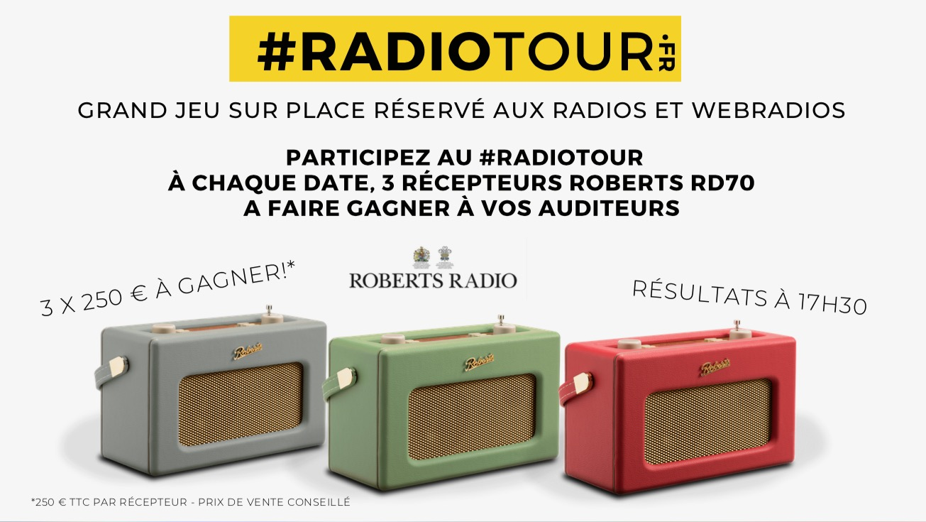 RadioTour Jour J moins 1 : gagnez 3 récepteurs Roberts Radio
