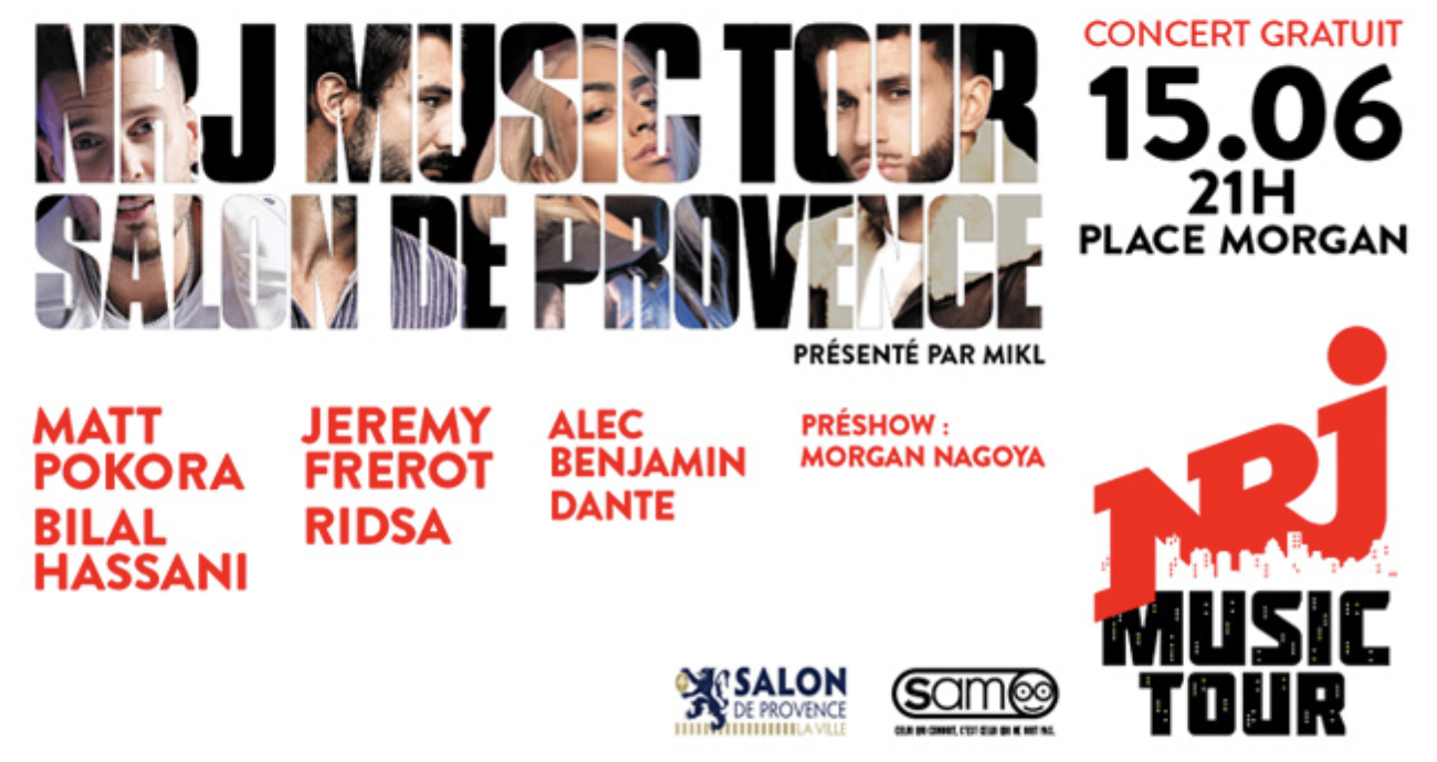 Le NRJ Music Tour arrive à Salon-de-Provence