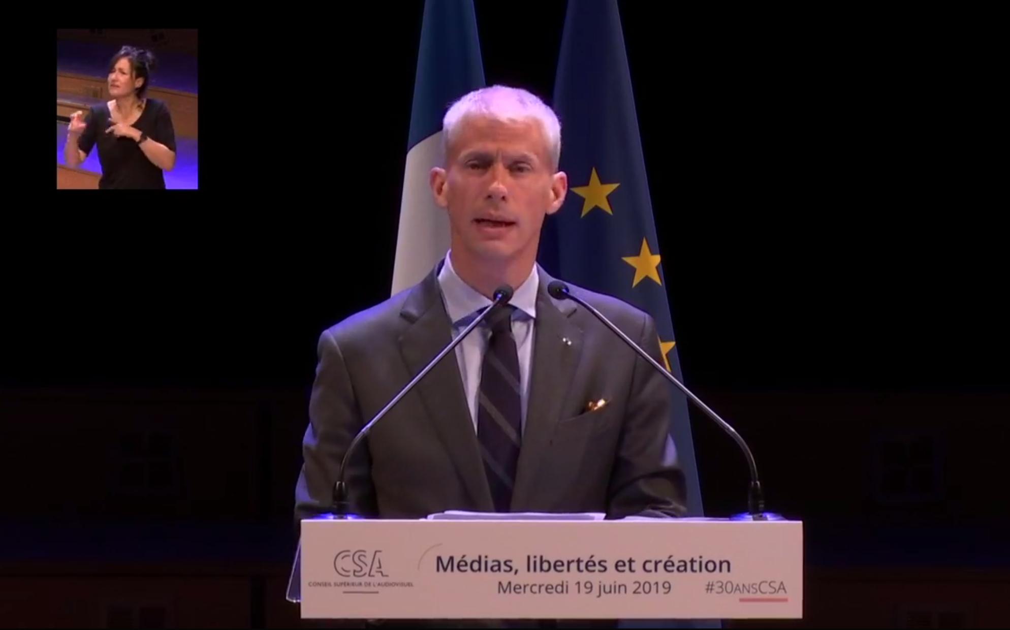 """Franck Riester : """"je veux remercier le CSA d'avoir relancé le DAB+"""""""