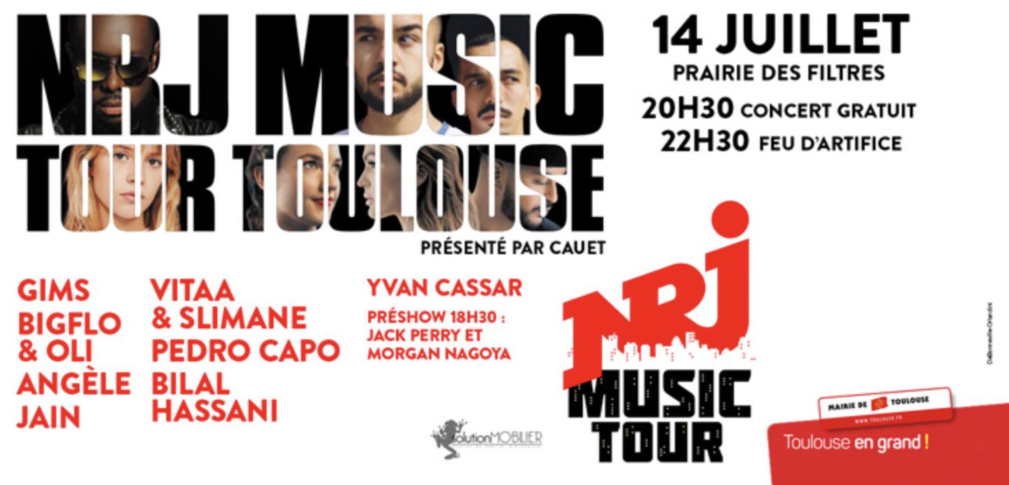 Le 14 juillet, le NRJ Music Tour sera à Toulouse