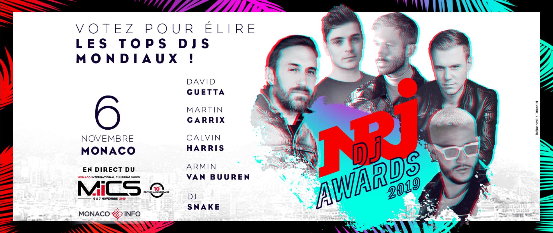 Ouverture des votes de la cérémonie des NRJ DJ Awards 2019