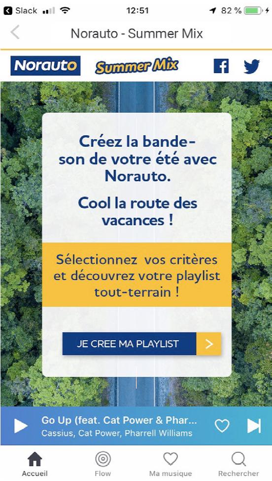 Norauto : une playlist idéale avec Deezer et Spotify