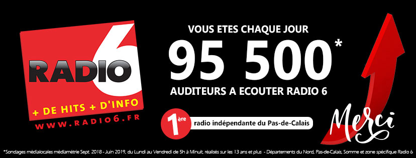 95 500 auditeurs écoutent Radio 6