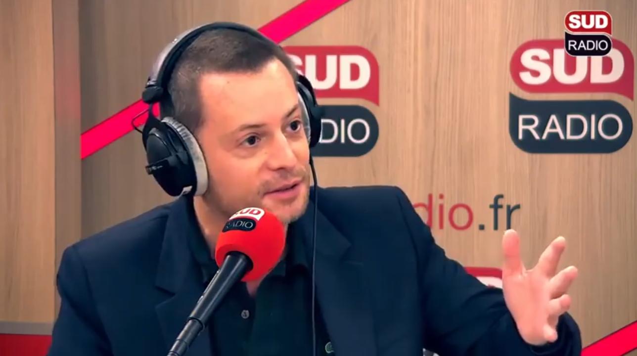 """Éric Morillot présente l'émission """"Les Incorrectibles"""" sur Sud Radio"""