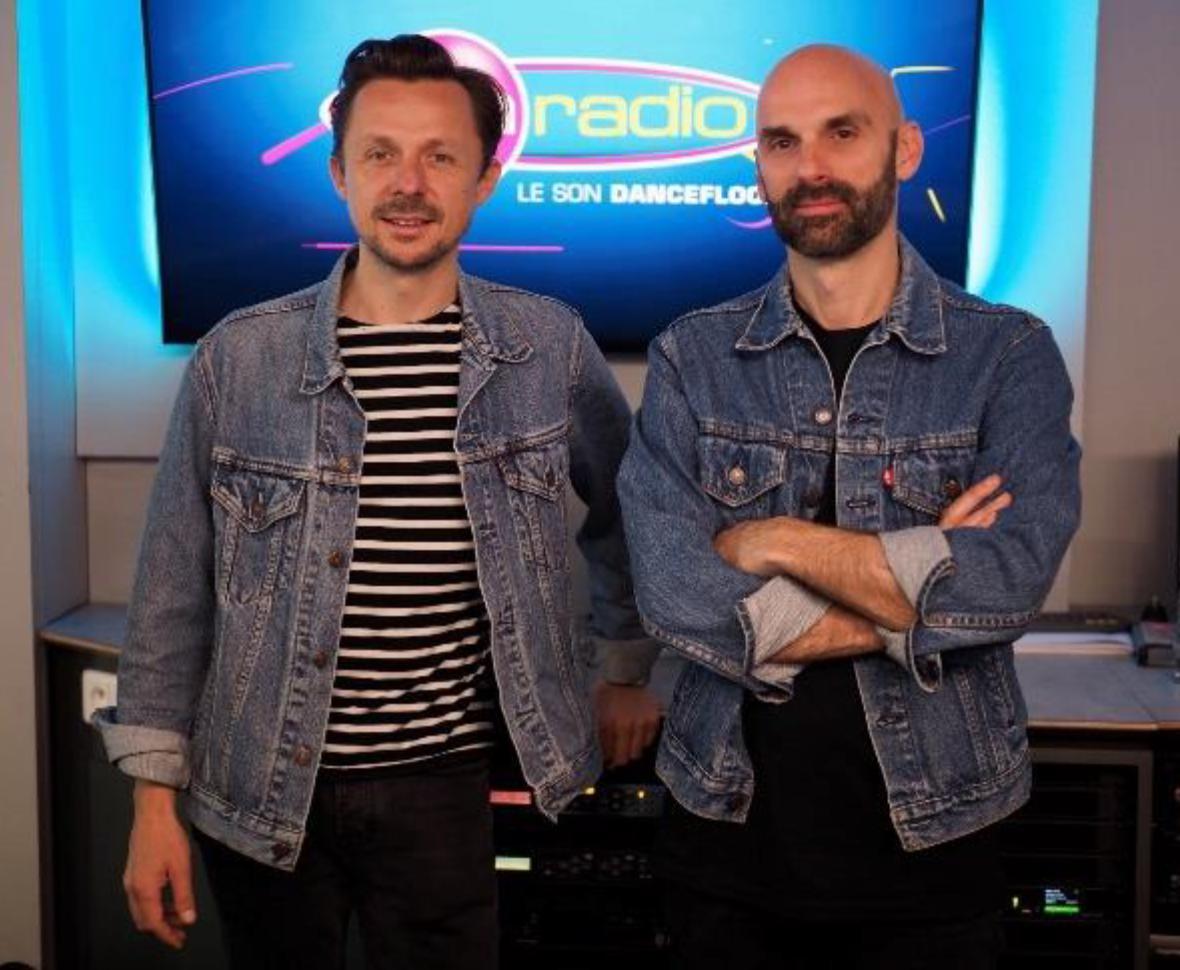 """Le DJ Martin Solveig aux côtés de Sébastien Joseph, directeur des programmes Fun Radio pour le lancement de """"All Stars"""" vendredi dernier"""