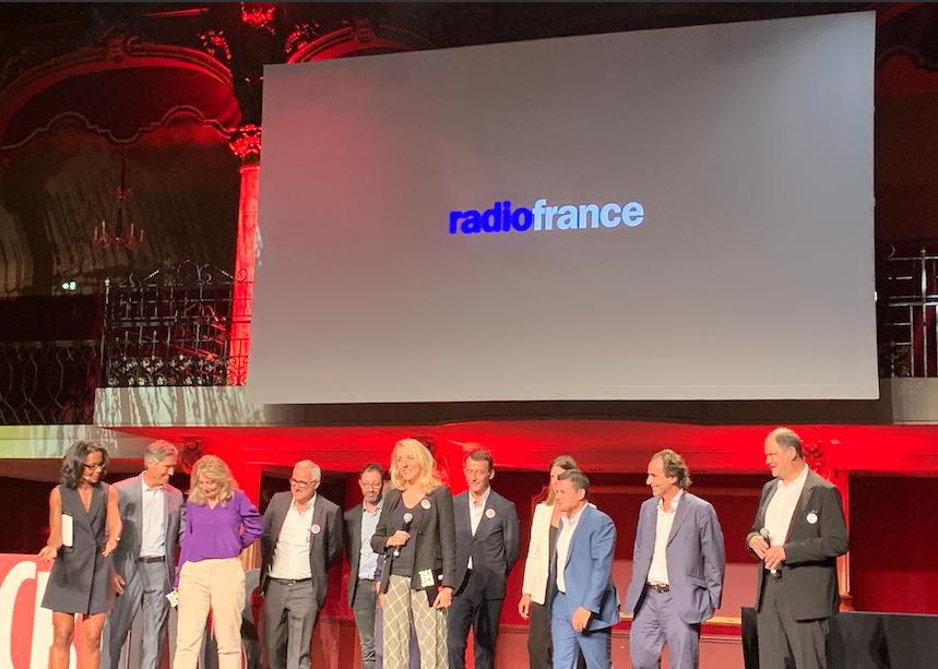 le groupe Radio France distingué par le Grand Prix des Médias 2019. / Photo FQ La Lettre Pro de la Radio
