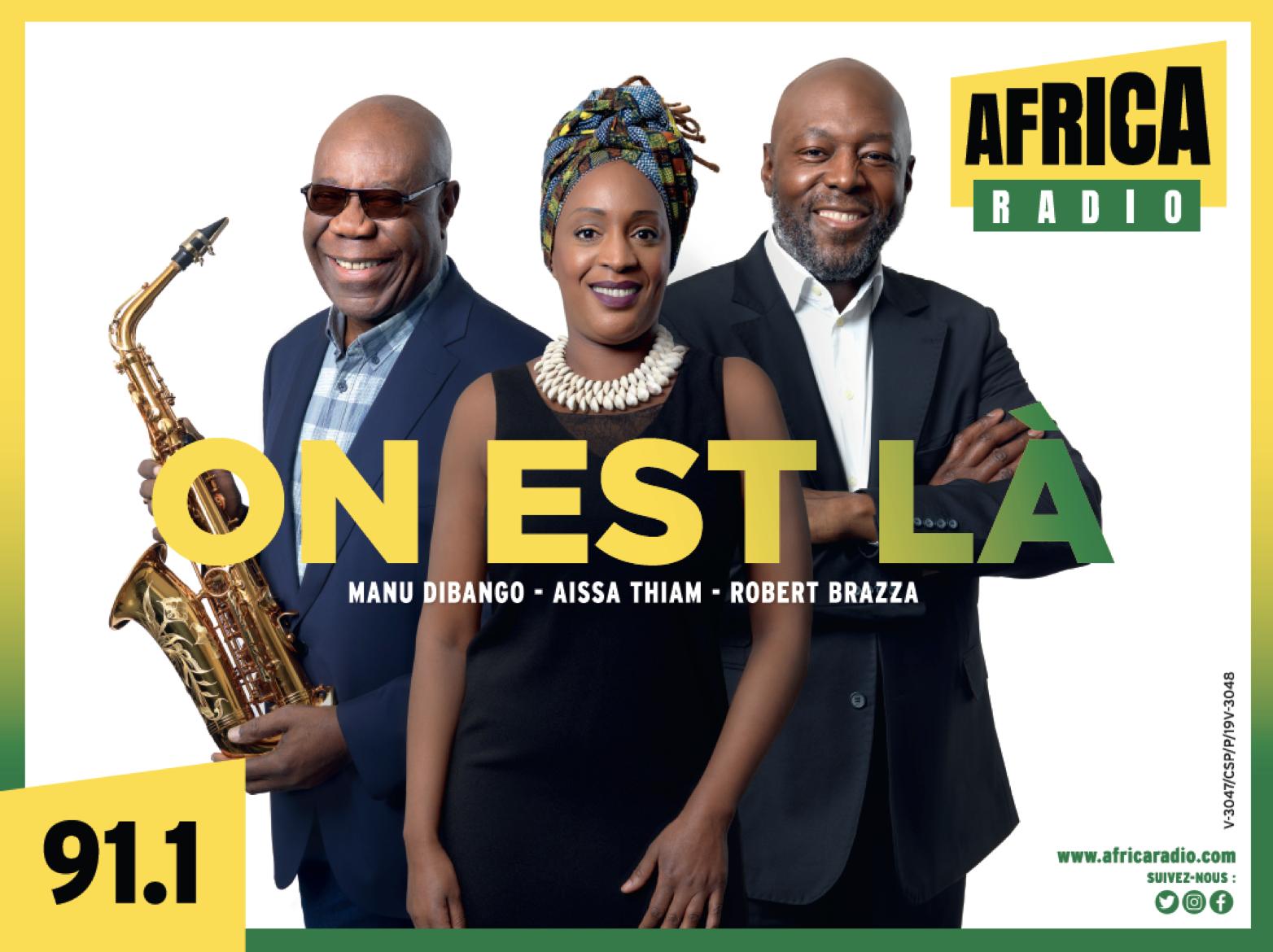 Africa Radio a aussi démarré parallèlement une campagne d'affiches à Abidjan pour annoncer son arrivée sur le fréquence 91.1 FM