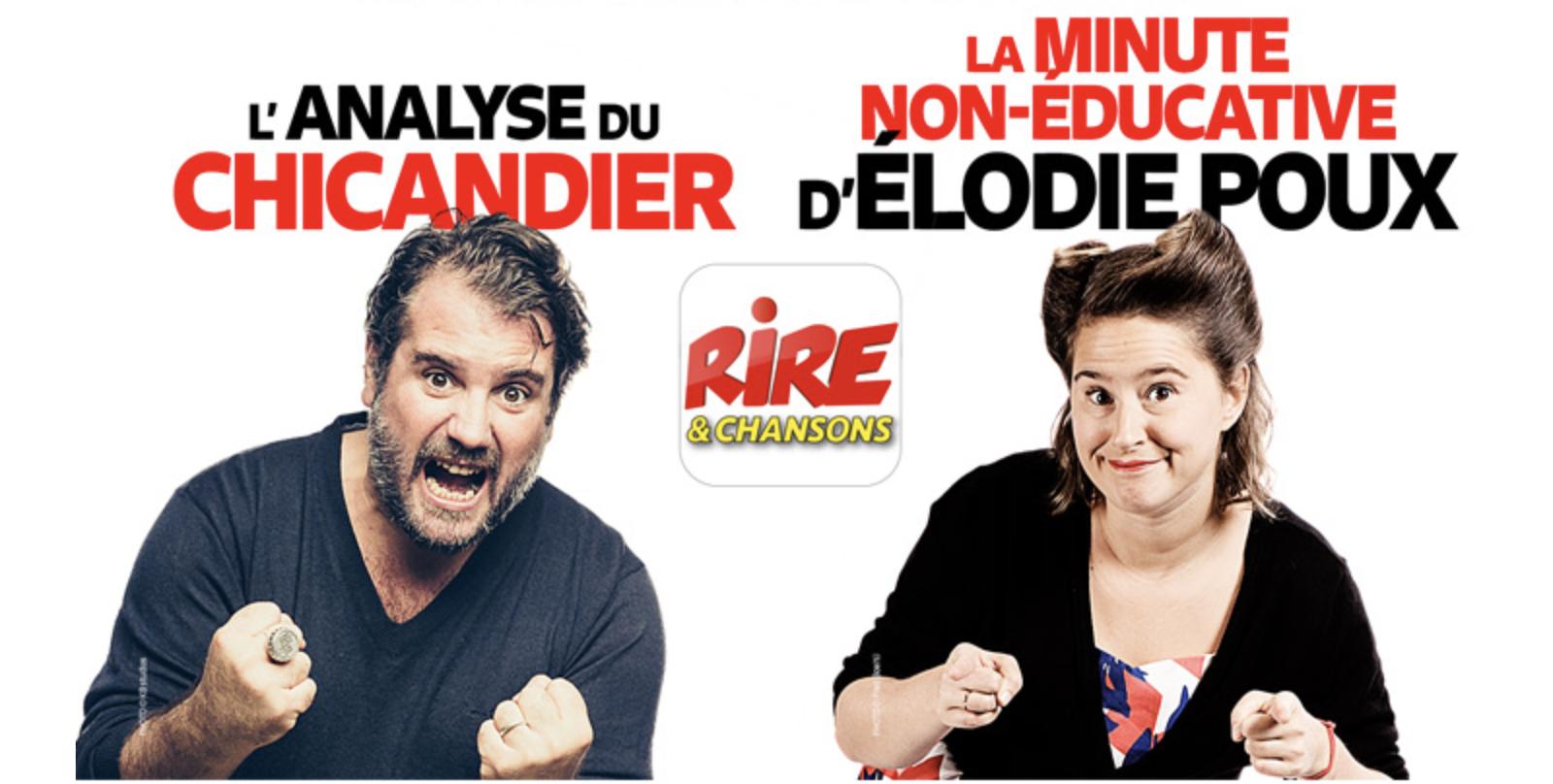 Élodie Poux et Chicandier rejoignent Rire & Chansons