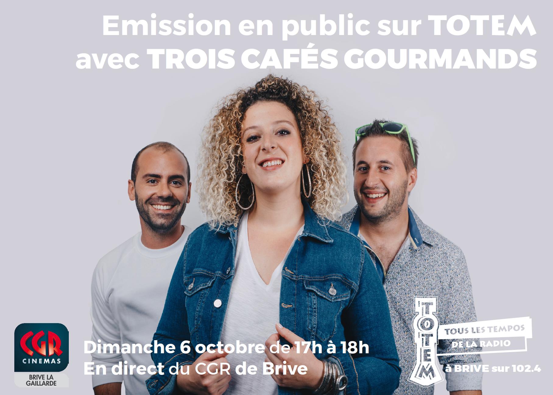 """La radio invite le groupe Trois Cafés Gourmands autour d'une émission spéciale afin qu'auditeurs, spectateurs et artistes profitent """"d'un concert convivial et riche en rencontres"""""""