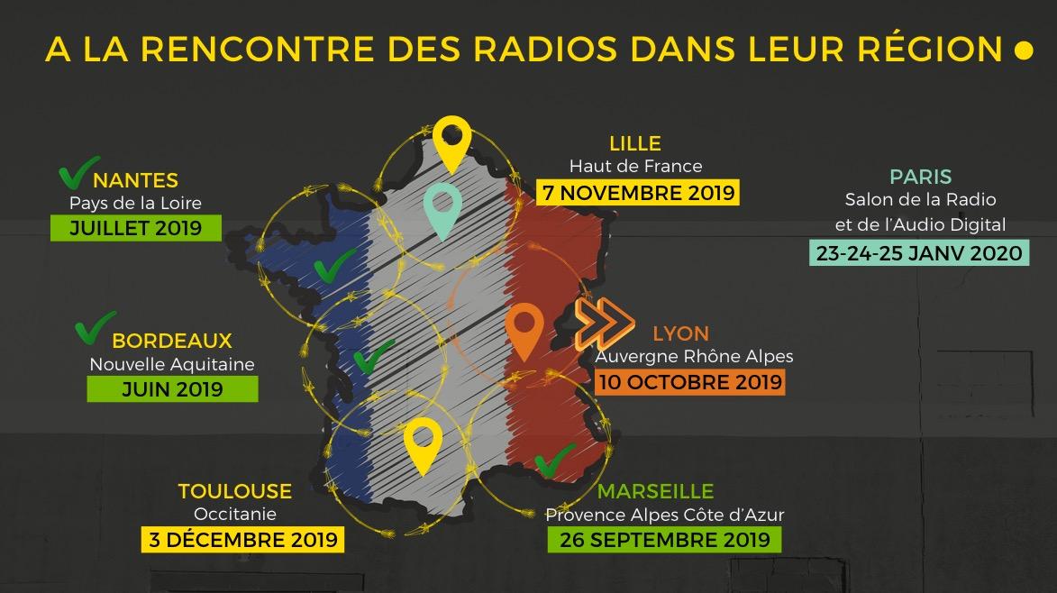 Nouvelle étape du RadioTour à Lyon ce 10 octobre
