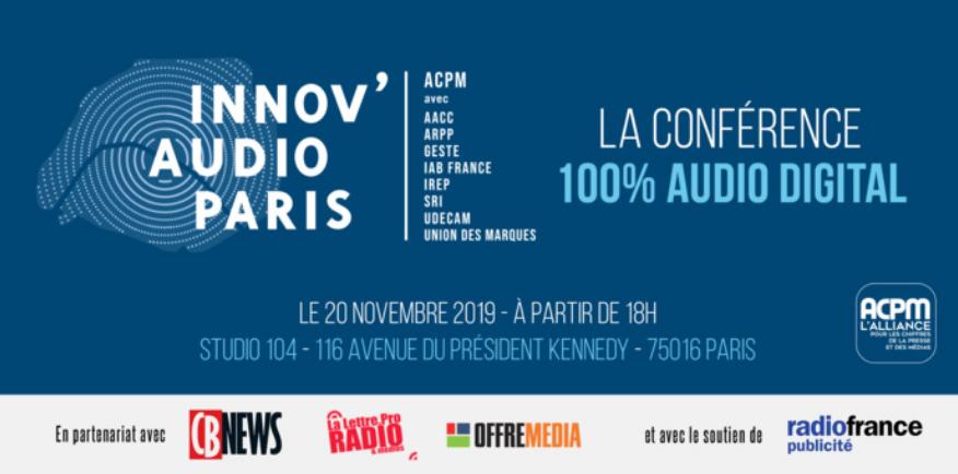 Innov'Audio Paris : le 20 novembre, à la Maison de la radio