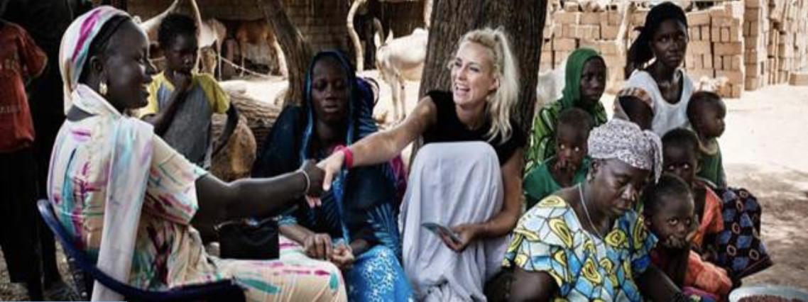 Elodie Gossuin en direct depuis la Mauritanie pour une mission avec UNICEF © UNICEF France / Zumstein