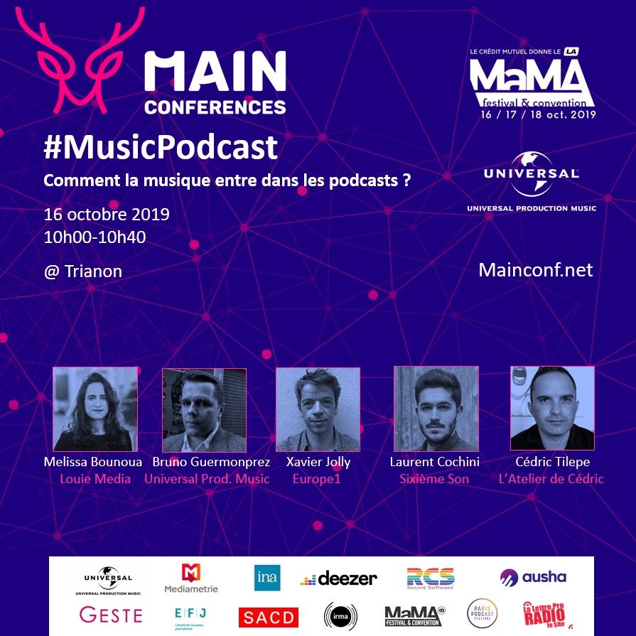 Trois MAIN conferences au MaMA Festival