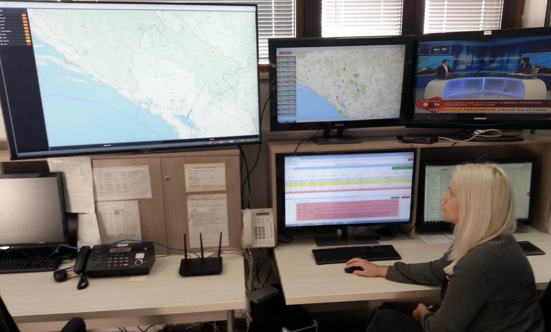 La salle de contrôle de Radio Difuzni Centar au Montenegro, utilisant Kybio