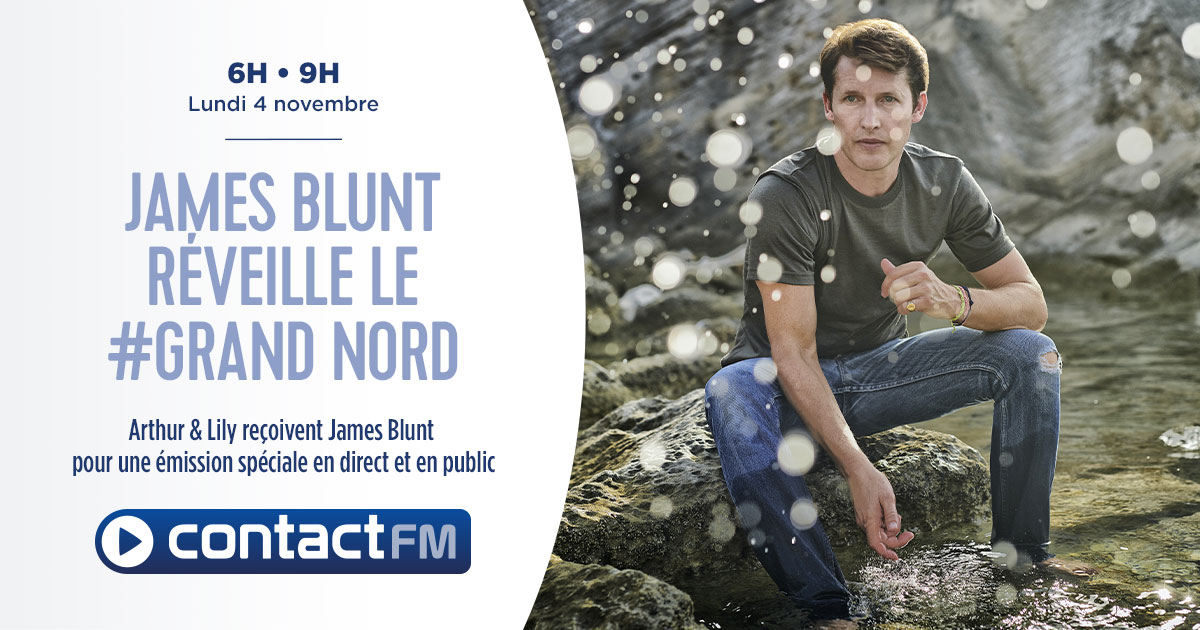 James Blunt invité de la matinale de Contact FM