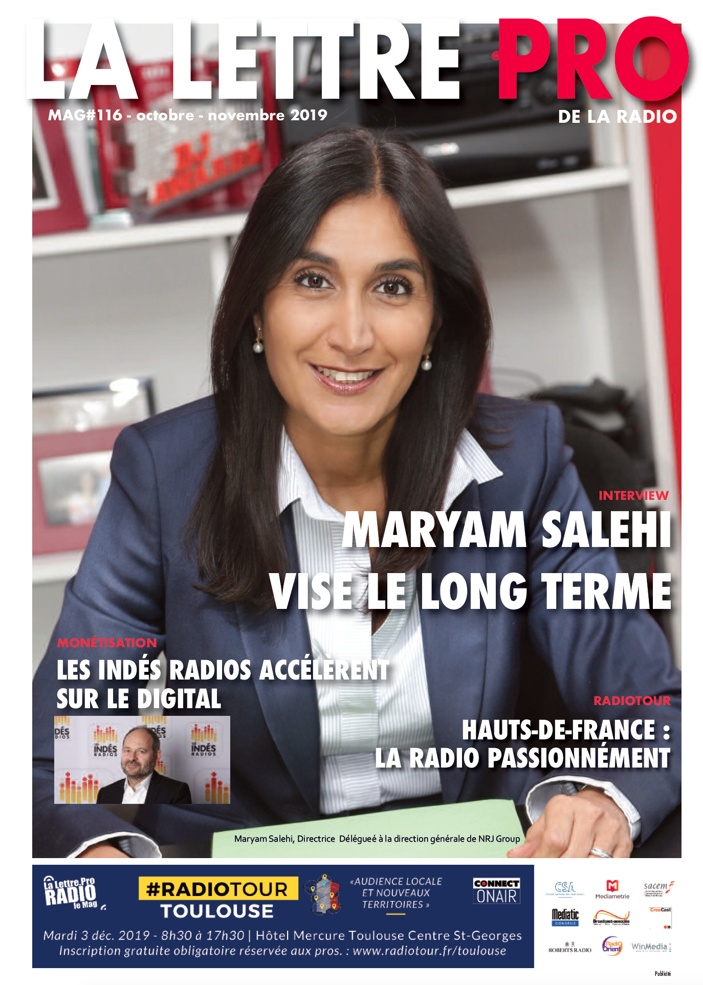 Maryam Salehi fait la Une du 116e numéro de la Lettre Pro de la Radio