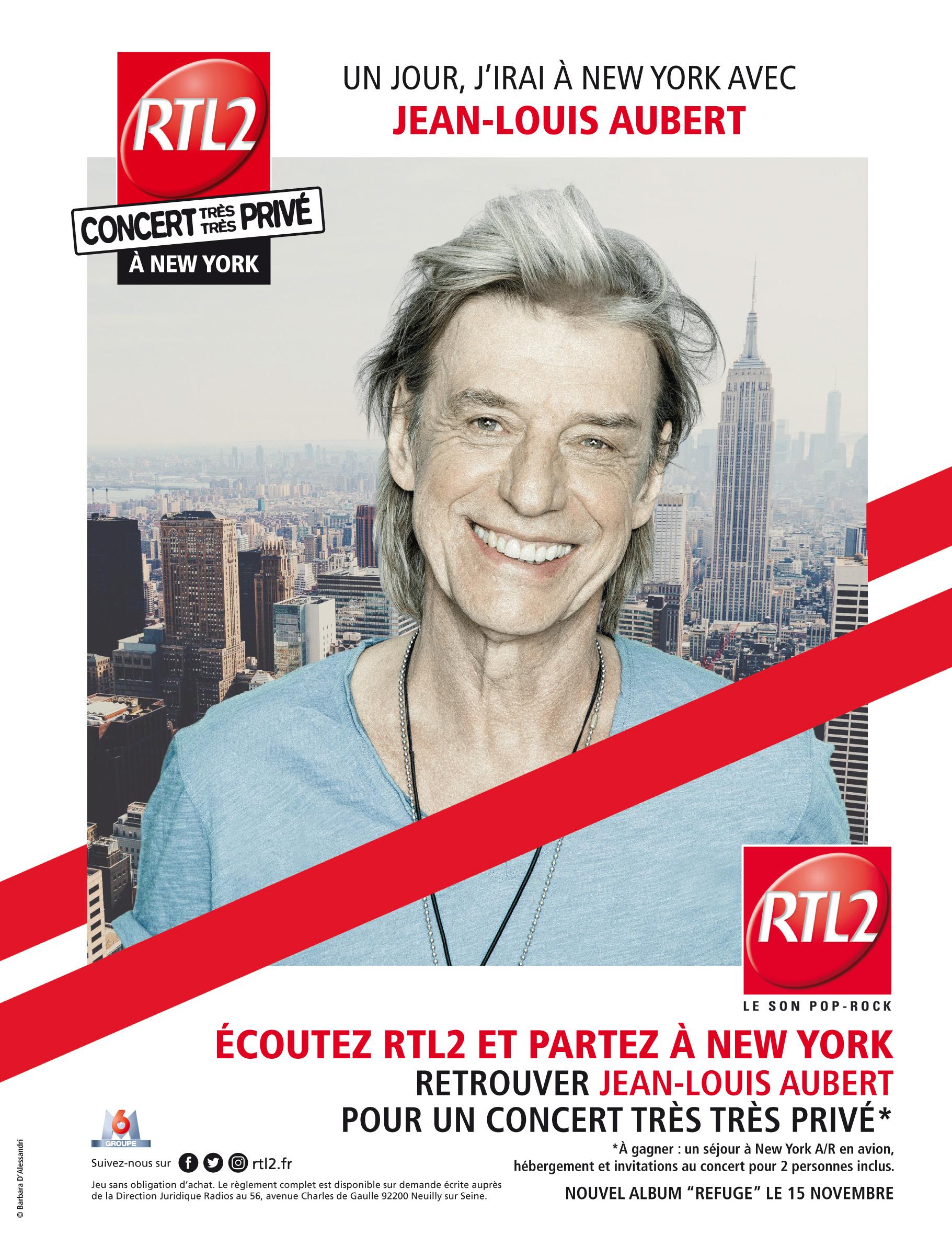 RTL2 en campagne avec Jean-Louis Aubert