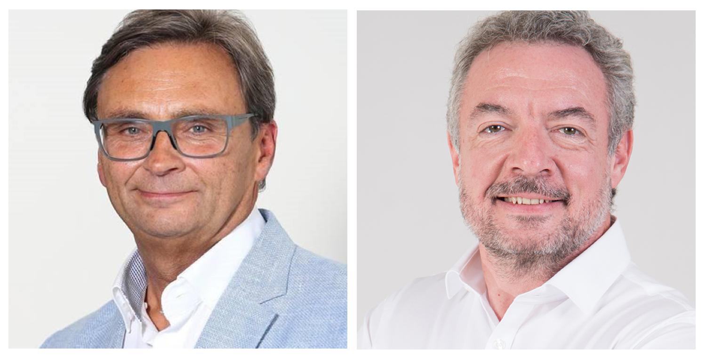 Deux figures de la radio en Belgique : Francis Goffin et Éric Adelbrecht
