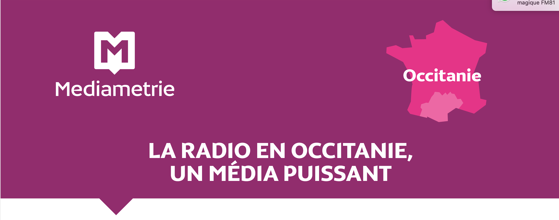 L'audience de la Radio en occitanie