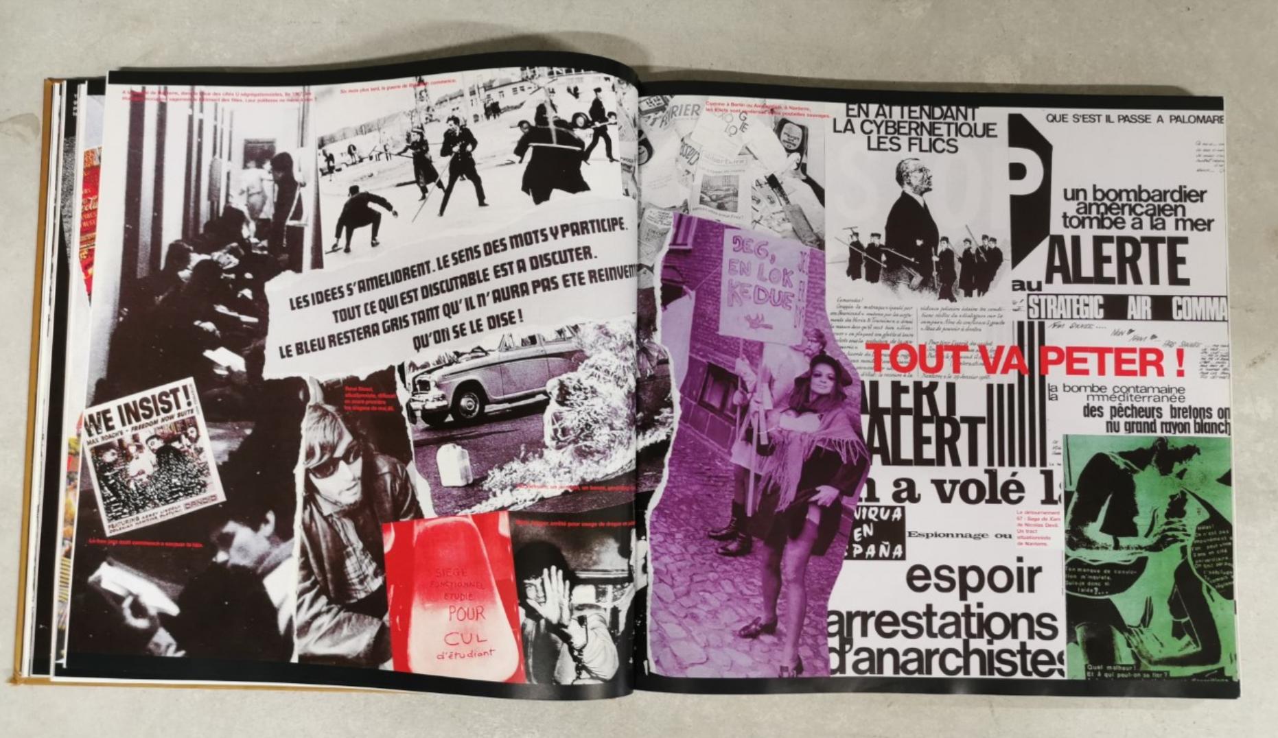 Double-page extraite de Underground, l'histoire de Jean-François Bizot (Éd. Actuel / Denoël)