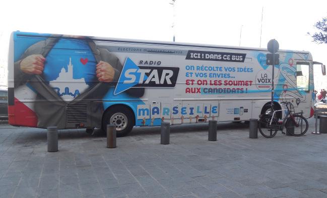 """Le bus """"La Voix des Marseillais"""" va parcourir la ville pendant deux mois."""