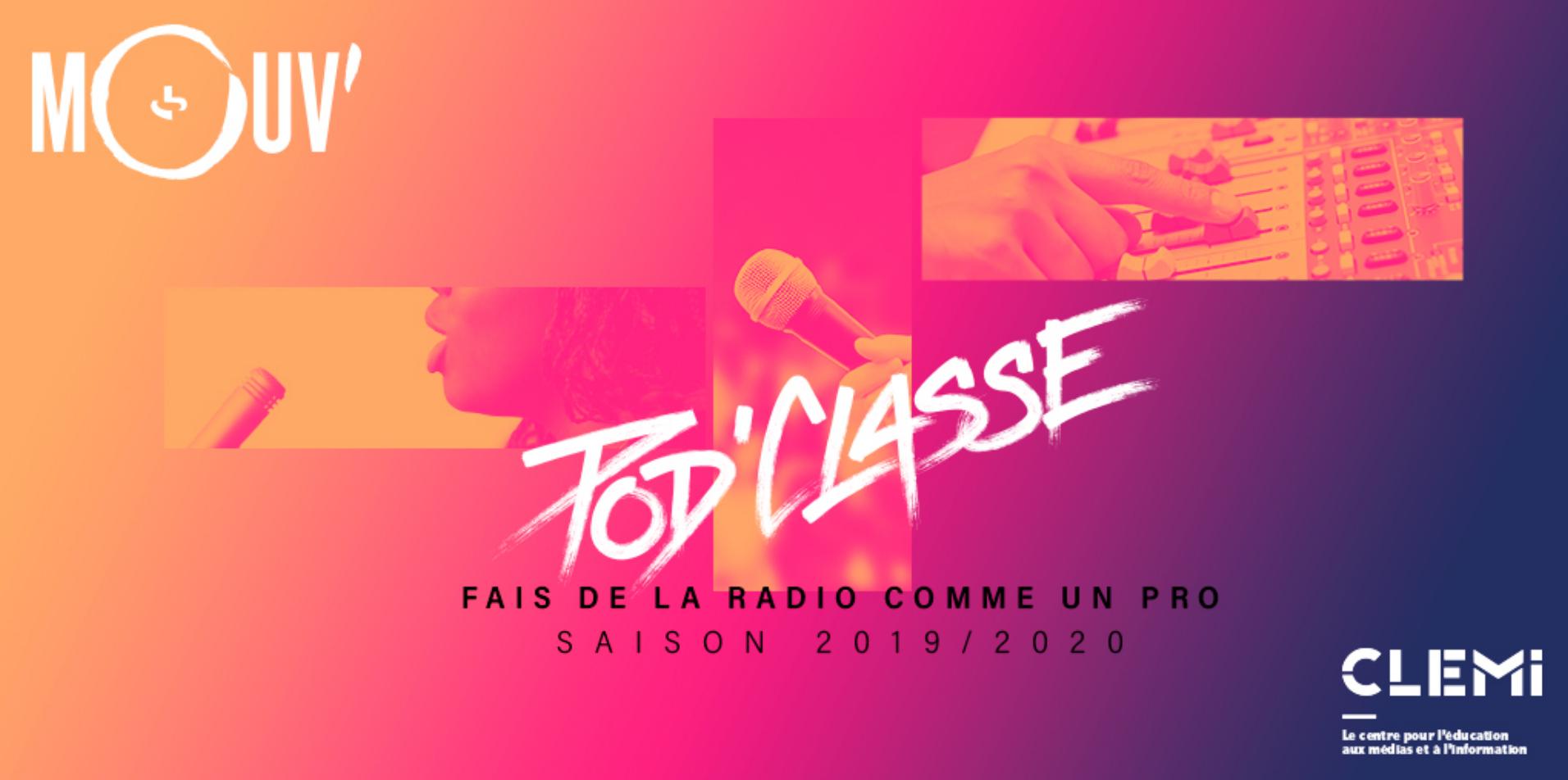 Mouv' lance Pod'Classe, un projet de webradios scolaires