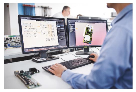 Le nouveau codec 4audio IP et DAB+ de 2wcom en développement. © 2wcom Systems GmbH