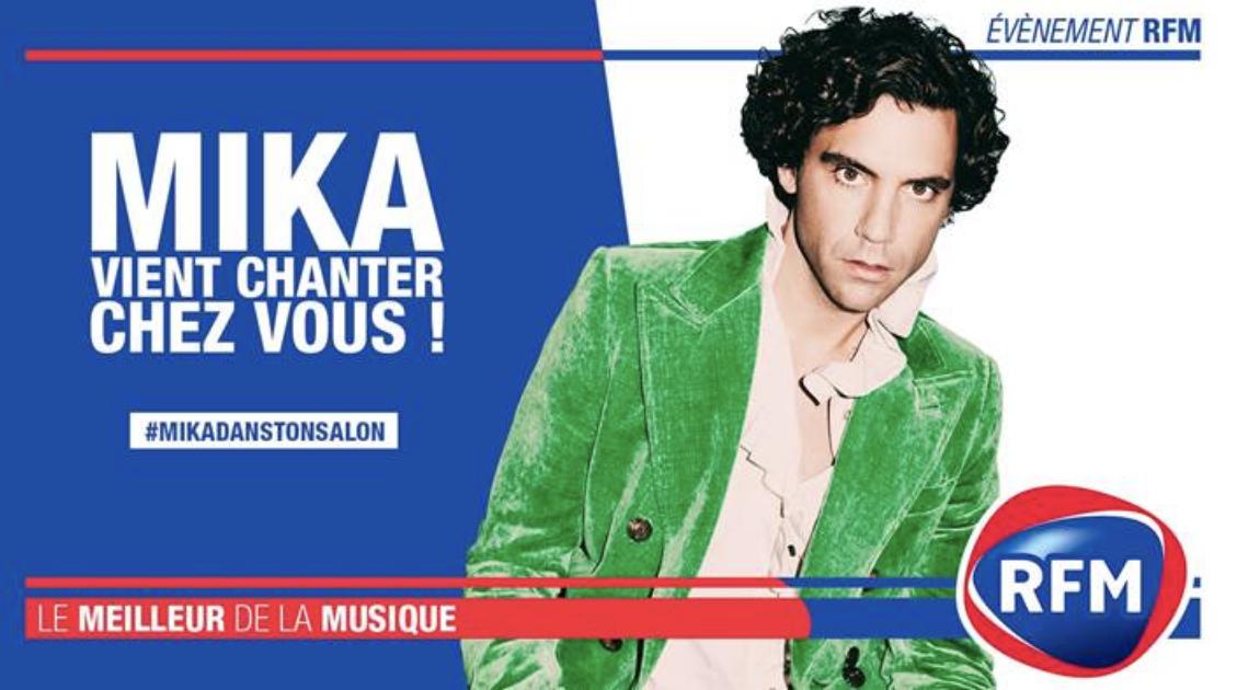 RFM : Mika en concert privé chez un auditeur à Caen