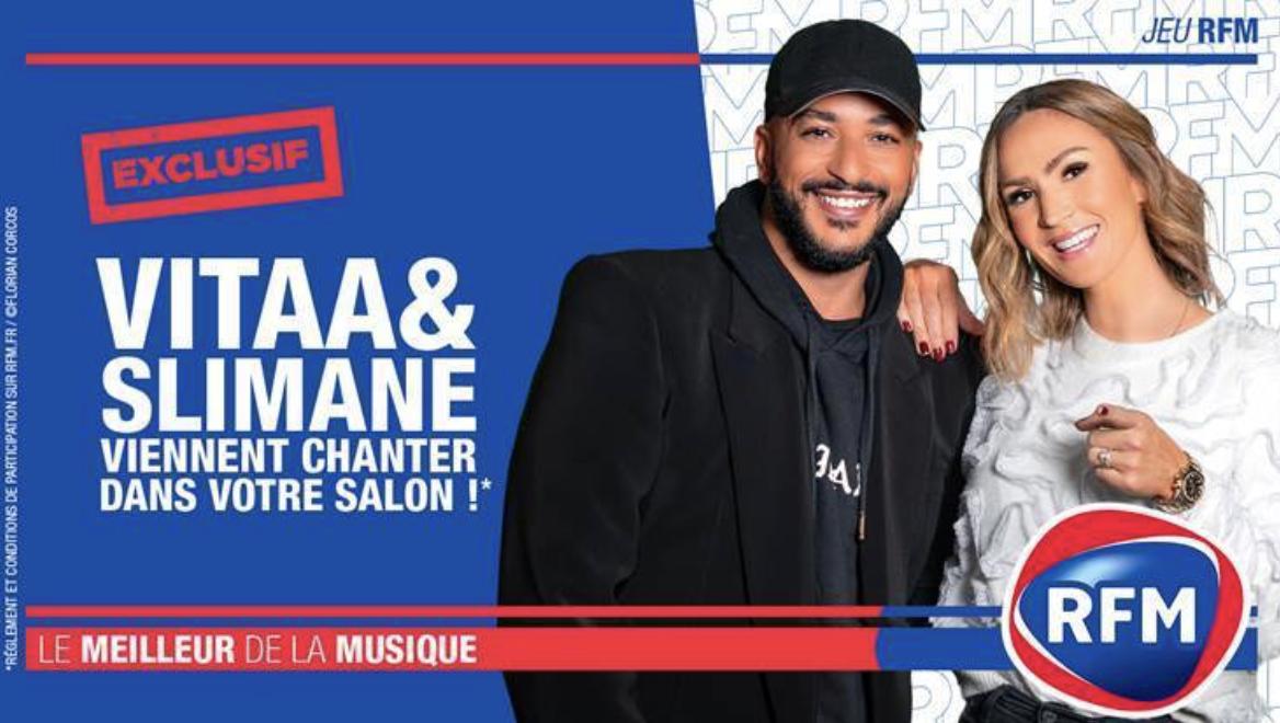 RFM : Vitaa et Slimane en concert privé chez un auditeur