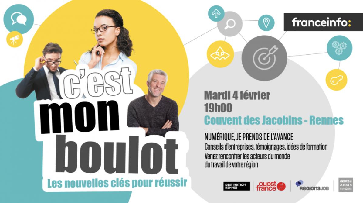 """franceinfo : """"C'est mon boulot"""" fait étape à Rennes"""