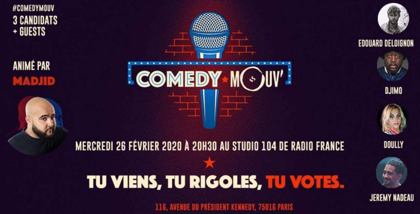 Ce soir, Mouv' organise la soirée Comedy Mouv'