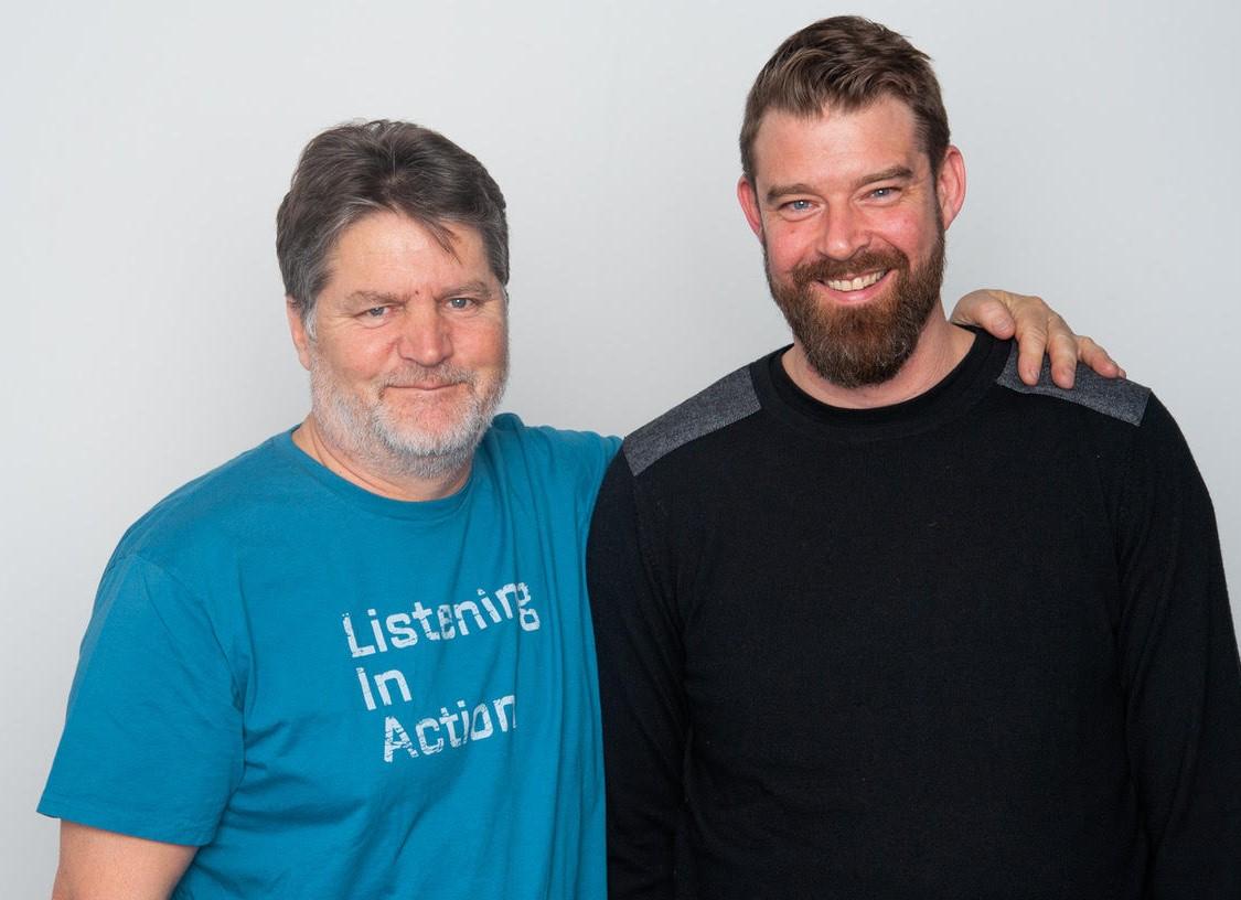 Vincent Benveniste, président de Radio Act, et Benoît Illinger, le pilote de Coodio.