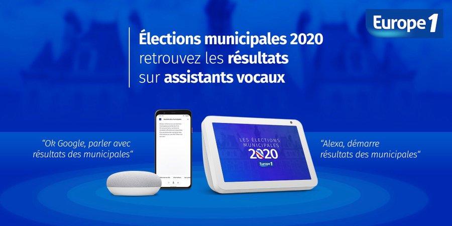 Europe 1 proposera les résultats des municipales sur les assistants vocaux