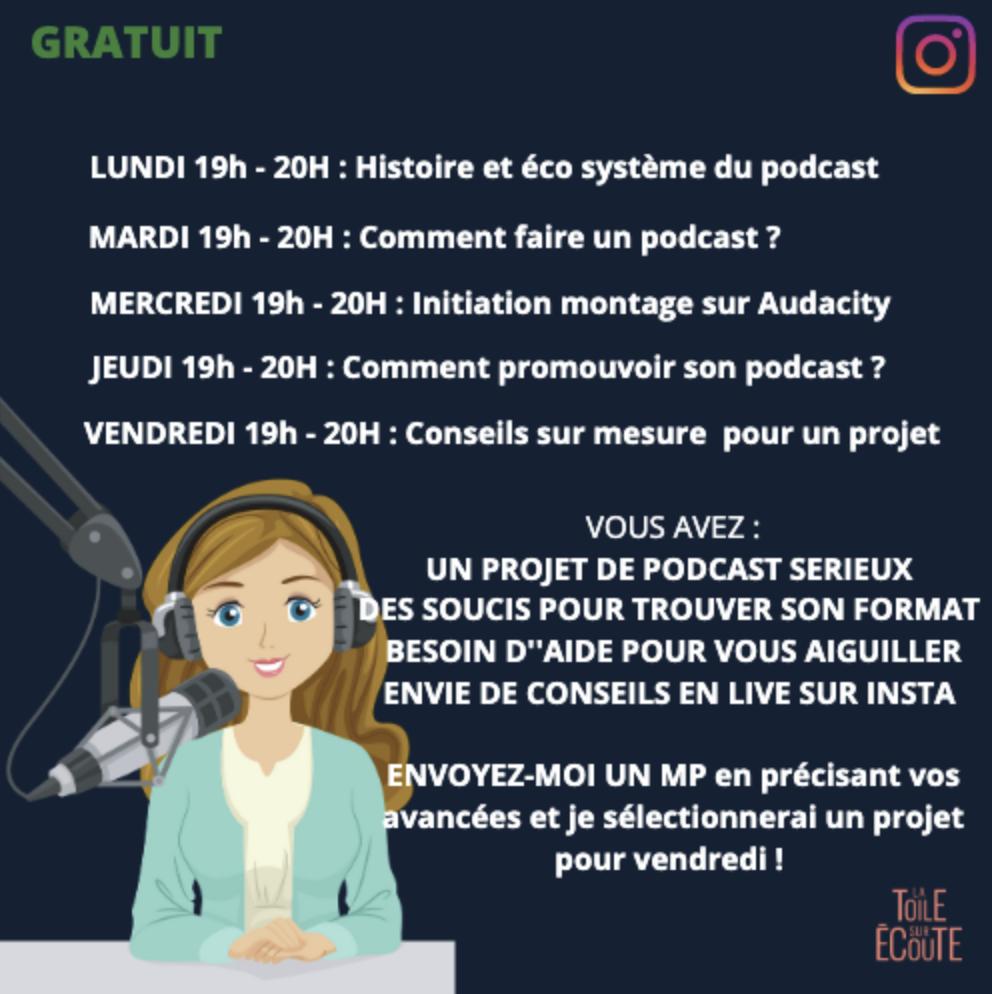Covid-19 : Toute la semaine, de 19h à 20h, une formation gratuite au podcast