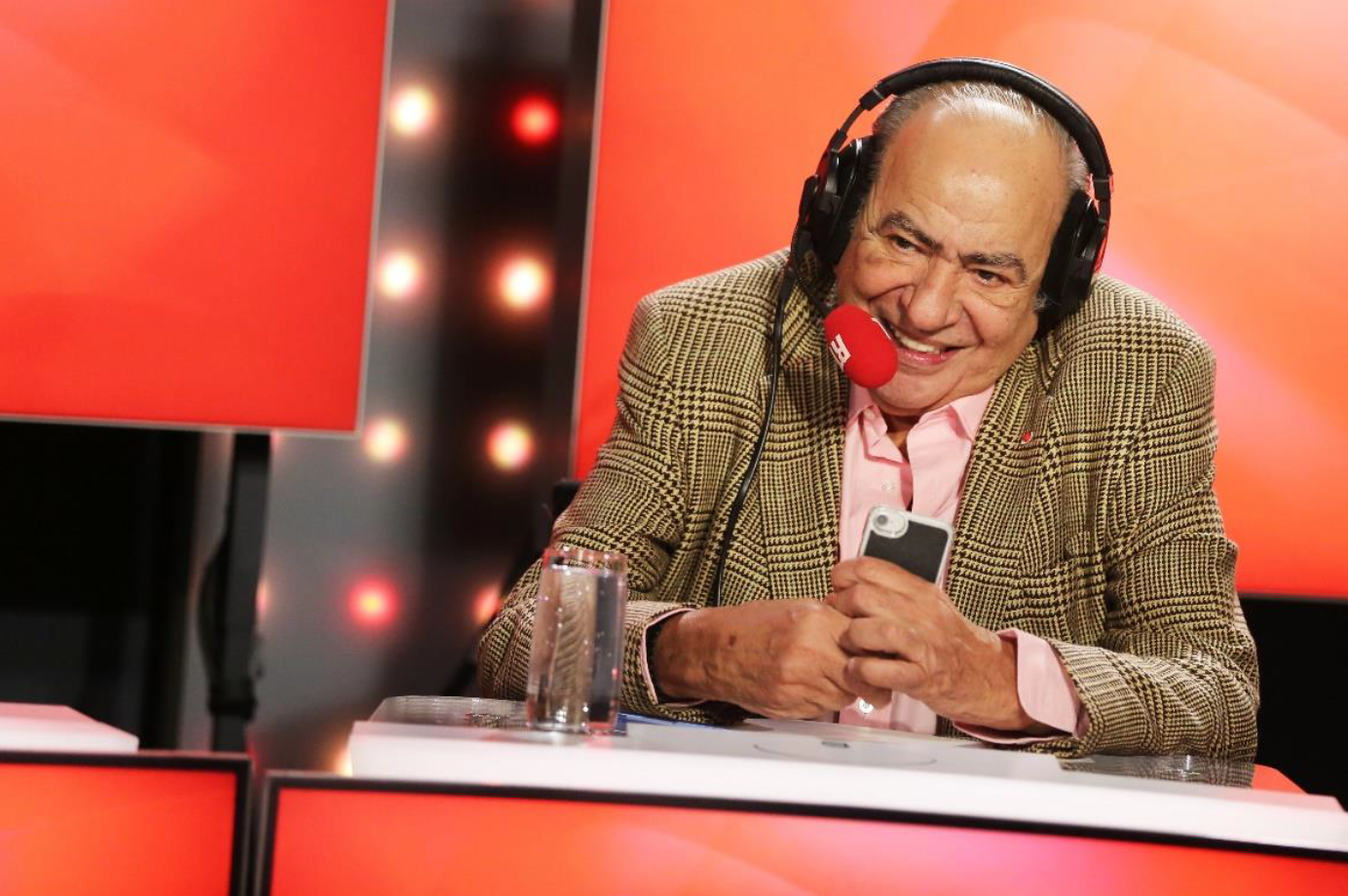 Pierre Benichou dans le studio des Grosses Têtes à RTL © Kervin Portelli