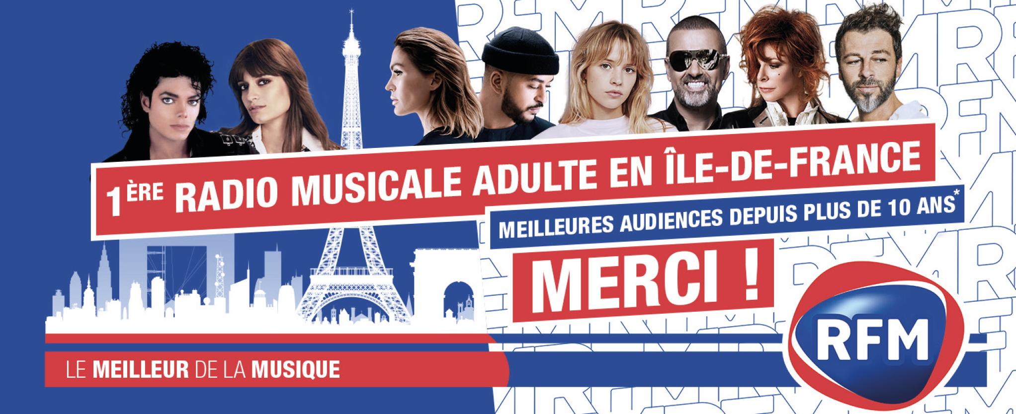 RFM est la première radio musicale adulte à Paris