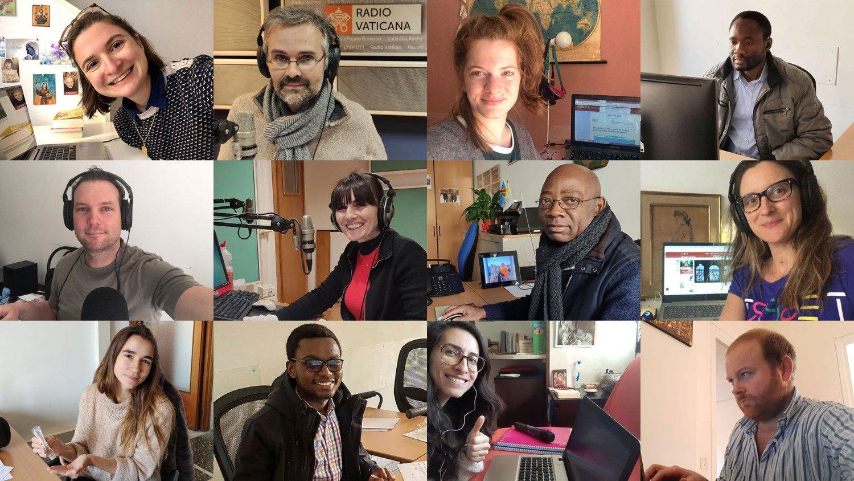 Les journalistes francophones de Radio Vatican confinés à domicile. © Vatican News